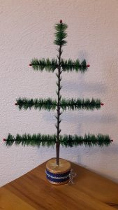Fenster Federbaum grün 46cm ohne Ständer