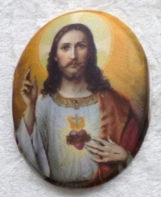 Seidenbild Herz  Jesus