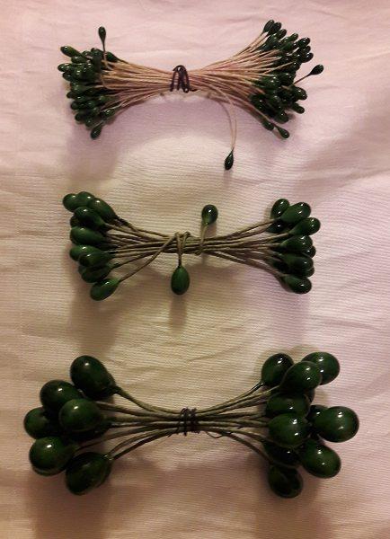 Ilexbeeren, grün, 2,5mm