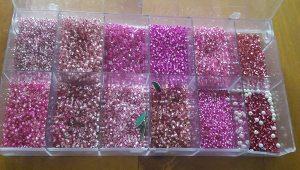 Perlenmixbox rosatöne