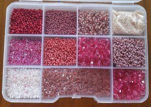 Perlenmixbox rosa und weiss