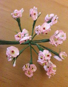 Röschen mit Blätter in rosa