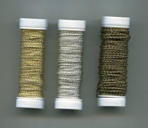 1 Spule Friseegarn, gold