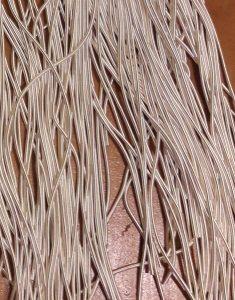 Schlangenbouillion matt in silber,5 Stück,