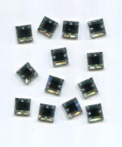 Strass/quadratisch, 10mm x 10mm (kristall) 1 Stück