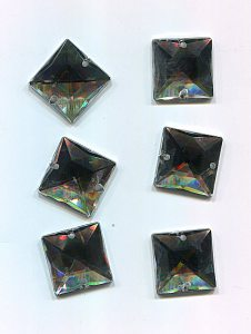 Strassstein 17 x 17mm kristall Acryl 1 Stück