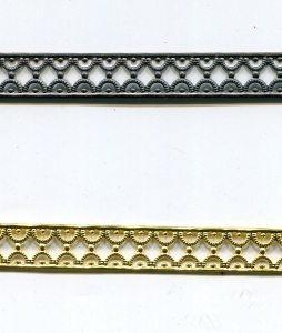Metallband, 10mm, roh 10 cm