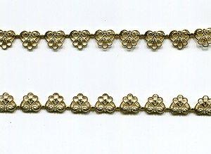 Metallband gold 9 mm/10 cm.