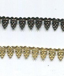 Metallband, 12mm, rohware, 10 cm