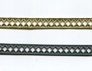 Metallband gold 10 mm/10 cm.