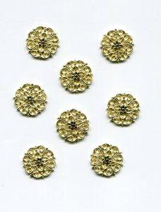 kl. Metallrosette 15mm gold 1 Stück