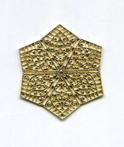 kl. Metallstern 45mm gold 1 Stück