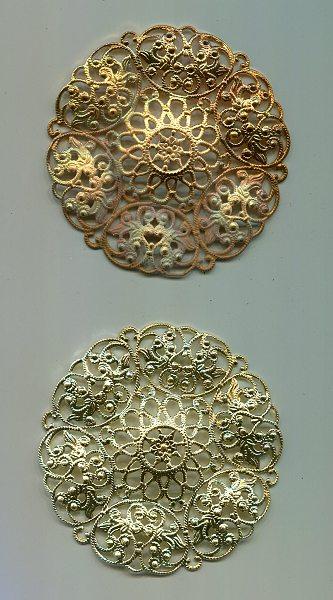 Metallrosette 7cm Rohware 1 Stück