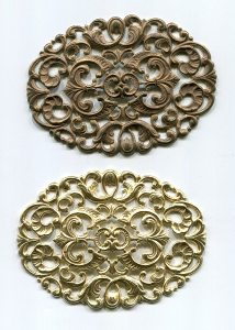 Metallelement Rohware oval 1 Stück