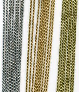 Kordelborte 2mm, gelbgold, 1 Bogen