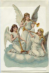 Schmuckkarte Engel mit Posaunen