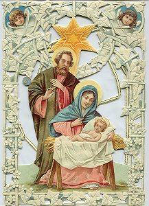 """Fensterbild """"heilige Familie"""""""