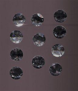 Strassstein, 1 Stück, 13mm, Glas (kristall)