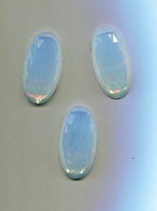 fac.-Stein 1 Stück, 32x17mm  (opal)