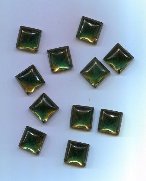 Muggelstein smaragd 14x14mm