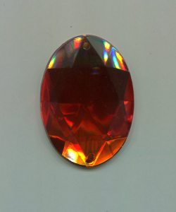 Strass-Oval, 40mm x 30mm, (orange), 1 Stück