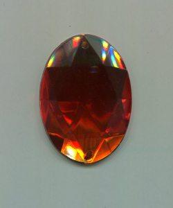 Strass-Oval, 40mm x 30mm, (orange), 1 Stück