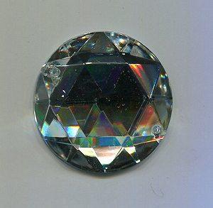 Aufnähstein, 1 Stück, Ø 28mm (kristall)