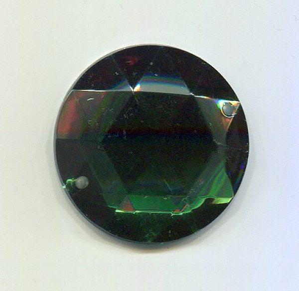 Aufnähstein 28mm smaragd 1 Stück