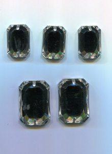Octagon 1 Stück, Acryl, 18mm x 13mm (kristall)