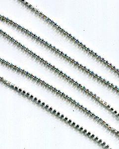 Strasskette kristall/AB,  2mm , 50cm
