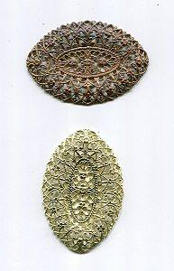 Metalloval Rohware 1 Stück