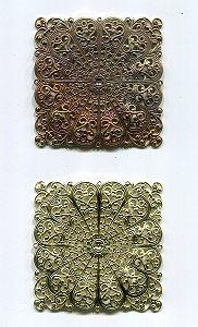 Metallquadrat Rohware 1 Stück