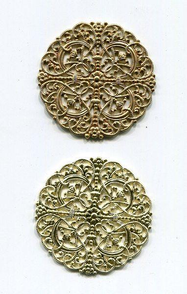 Metallrosette Rohware 1 Stück