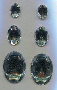 selbstklebende Strasssteine  oval