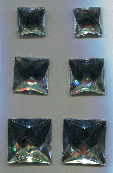 selbstklebende Strasssteine  quadratisch