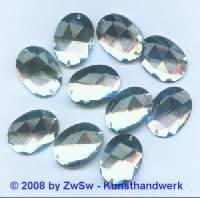 Solitairstein aus Acrylglas, 28 x 21mm, kristall, 1 Stück