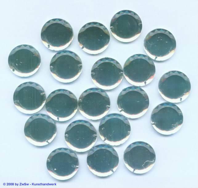 Solitairstein aus Acrylglas, Ø 18mm, kristall,20 Stück