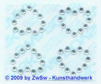 Swarowski Bügelmotiv 4 Herzen