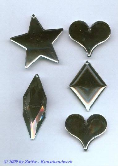 Kristallanhänger aus Acrylglas, kristall, 5 Stück
