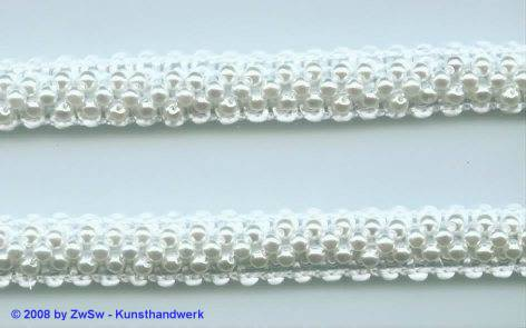 Perlen-Borte, 50 Zentimeter, 11mm breit