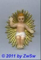 Segnendes Jesulein, 6 cm, mit Strahlenkranz