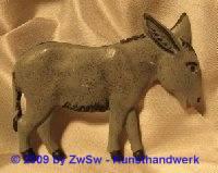 Relief-Esel; ca. 9cm x 7cm