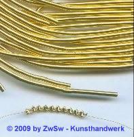Quetschbouillion vergoldet 1,4mm, 50cm