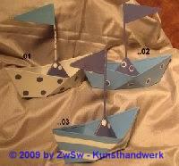 Blechschiff blau