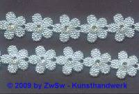 Blumen-Borte mit Strass, 18 mm breit, 50cm