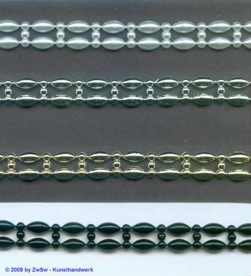 Perlen-Borte, weiß, 9mm breit, 50cm