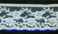 Tüllspitze mit Perlen bestickt 60mm breit, 50cm