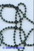 Perlenschnur schwarz, 2,5 Meter