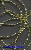 Perlenschnur gold, 2,5 Meter