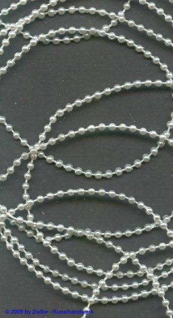 Wachsperlenschnur weiß, 2,5 Meter, Ø 3mm